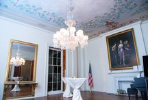Decatur House Entertaining Parlors / The Entertaining Parlors within the historic house museum are perfect for intimate gatherings. Striking inlayed wood floors, 19th–century chandeliers, full-length mirrors and painted ceilings ornament these elegant rooms.