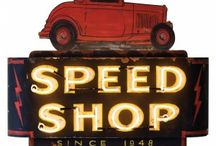 Speed Shop Signage