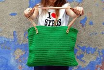 Bags by Desperate artists / Knitted bags by Erin Tatsiopoulou