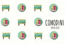 Comodini / Comodini è una rubrica curiosa. Ogni mese, sul mio blog, un ospite parla del suo comodino, degli oggetti e libri che lo impreziosiscono.  http://www.internostorie.it/tag/comodini/