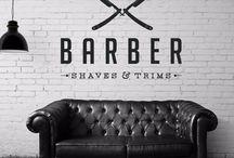 Barbearia / Barber shop decoração e penteados