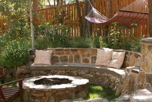 sticks & stones / stone landscaping, stone fire pits, paving, garden screens, trellis, fencing