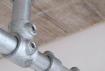 Kleiderständer / Kleiderständer, Gaderoben und Schuhregale aus Rohren und Rohrverbindern