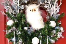 Owl Wreaths - by Irish Girl's Wreaths / Owl wreaths I've made for all seasons