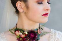 wedding flower necklace