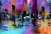 peinture abstrait
