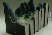 book art-sculpture...paper art....