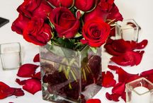 red roses wedding decoration