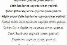 1.sınıf Türkçe