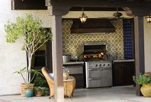 Outdoor Kitchens and Living Spaces / Don't be a total homebody - get outside!