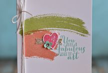 Stampin' Up! New 2014-2015 catalog. / Inspiration for new stamp sets and accessories in annual catalog, Inspire, Create, Share; June 2, 2014 through June 2, 2015.