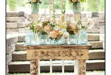 Rustic Pink and White Wedding Flowers
