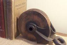 vintage pulleys
