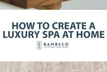How to Create a Luxury Spa at Home / Start designing your organic oasis with up to four colors of our plushest organic cotton towels. Then add refreshing all natural spa essentials to create a detoxifying sanctuary of health...at home! Discover our full collection of eco-chic bath linens and all natural soaps to make your bathroom feel like a luxury spa.