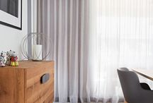 Badly draped curtains