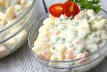 Saláták, öntetek