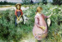 Children in the Field and Garden
