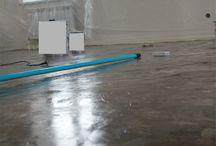 white floor / белый декоративный полимерный наливной пол с узором