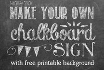 Chalkboard signs / by Paula Touhey