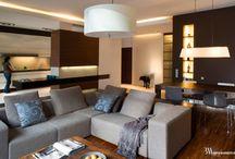 Apartament Eco Park / Nowoczesny apartament utrzymany w ciepłych odcieniach brązów i beży. www.bartekwlodarczyk.com
