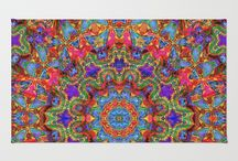 Area / Throw Rugs / My artwork on area and throw rugs. Liven up your decor!