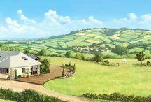Property and landscape artist' impression