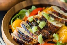 Recipes / Chicken salad hot/sweet