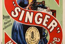 Vintage sewing ads etc