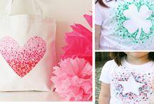 malování na textil + inspirace(obrázky)