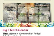 AngelJay Designs 2016 Tent Calendars / AngelJay Designs range of Tent Calendar designs for 2016. Size 235 x 100mm when folded. South African Public Holidays and School Terms printed on the base.