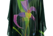 Scarves and Wearable Art / A variety of jackets, scarves, tunics, purses that are hand dyed and stitched by American artisans