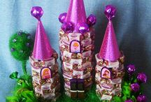 Цветы и торты из конфет