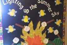 Themed Boards / Themed boards for hallways of preschool