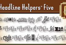 Headline Helpers Five SG™ Font Download