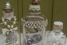 altered bottles. Candles and jars / by Jackie Church