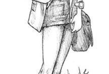 drawings style girls