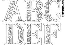 Vystřihovánky Abeceda / Čísla / písmena, čísla, znaménka