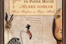 Stage papier mâché / papier mâché workshop Melanie Bourlon / Mes stages papier mâché www.melaniebourlon.com