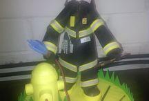 bombero en goma eva