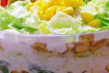 Saláty zeleninové testovinove majonezove aj.....