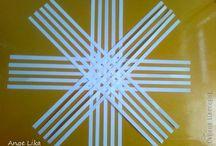 Paper ornament snowflake