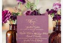 Wedding Table Numbers and Place Names