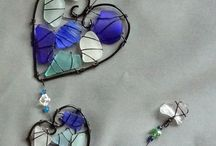 sea glass and wire