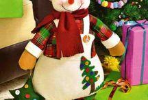 ceciliadazaacosta / muñecos de navidad
