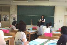 和裁講習会 / 東亜和裁の和裁指導員が行った高校などでの講習会の様子をピンしています。和裁の技術を後世まで継承していけることを誇りに思います。