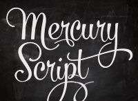 Mercury Script Typeface