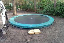Trampoline ingraven / trampoline ingraven