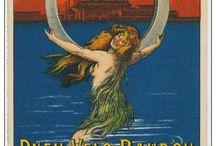 Mermaid Vintage Postcards Syreny Stare pocztówki