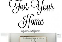 DIY Home Signs and Artwork / This board is for all the different kinds of DIY signs and artwork that are so popular.  I love them, DIY wooden signs, signs with sayings, laundry signs, quotes for signs, signs for the kitchen, bedroom, front door, or the bathroom even.