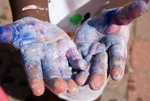 Blauwe hand - blue hand / De energie van blauwe hand in als zijn facetten - The energy of blue hand in all it's colors - tzolkin - maya astrology / by Mirjana Scheepens